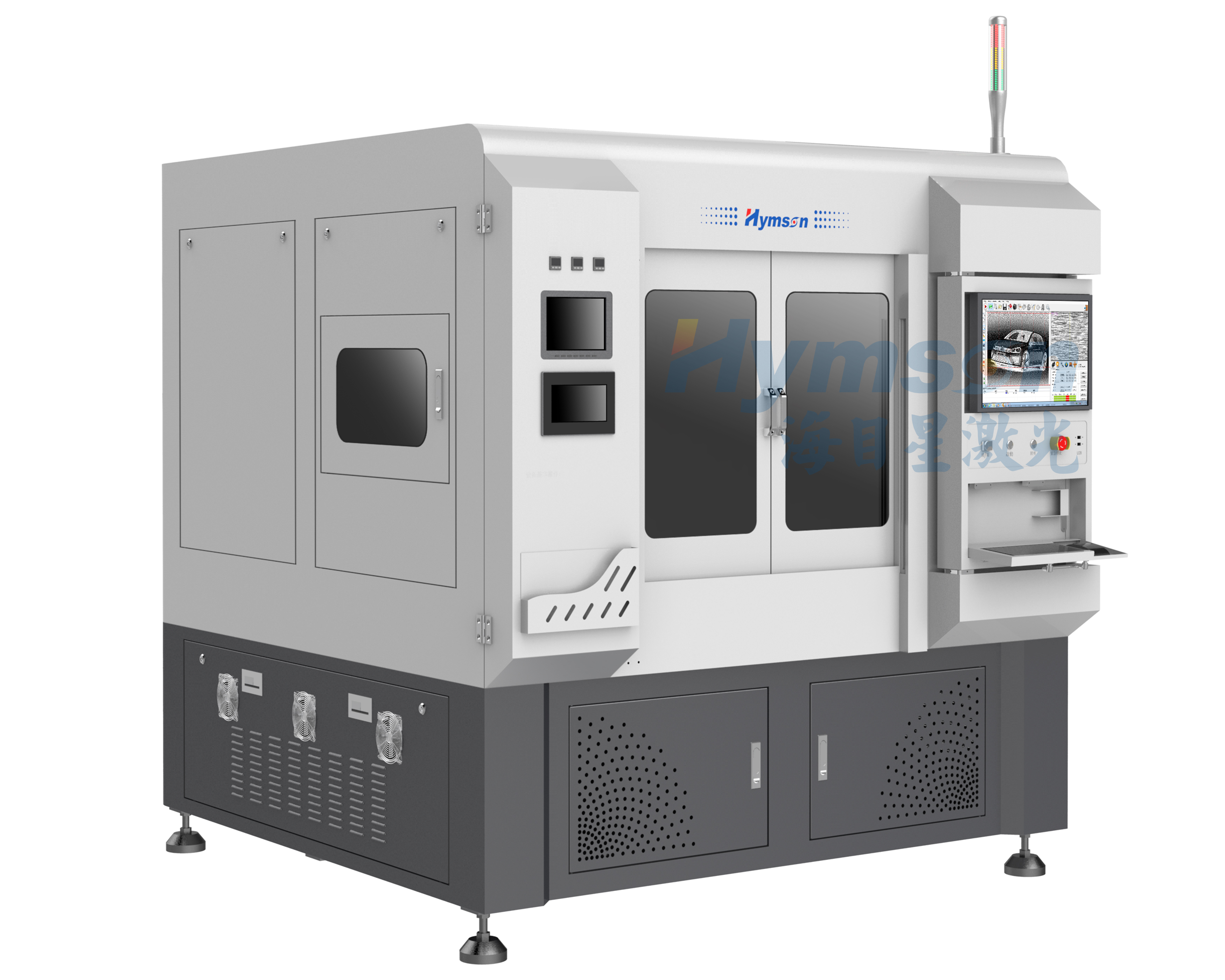 Auto brittle material picosecond  laser cutting machines